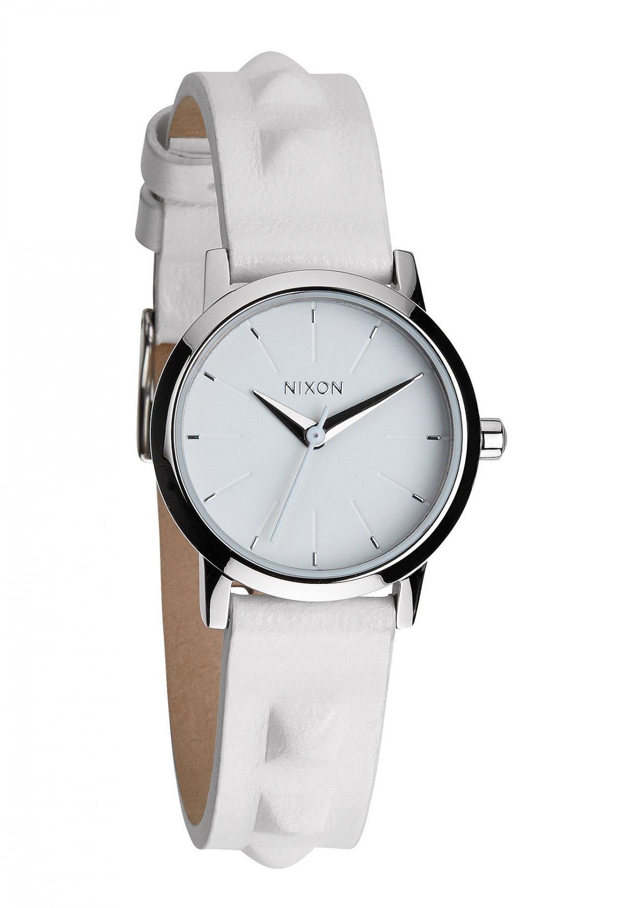 nixon the kenzi leather all white studded a3981811 nur 69 00. Black Bedroom Furniture Sets. Home Design Ideas
