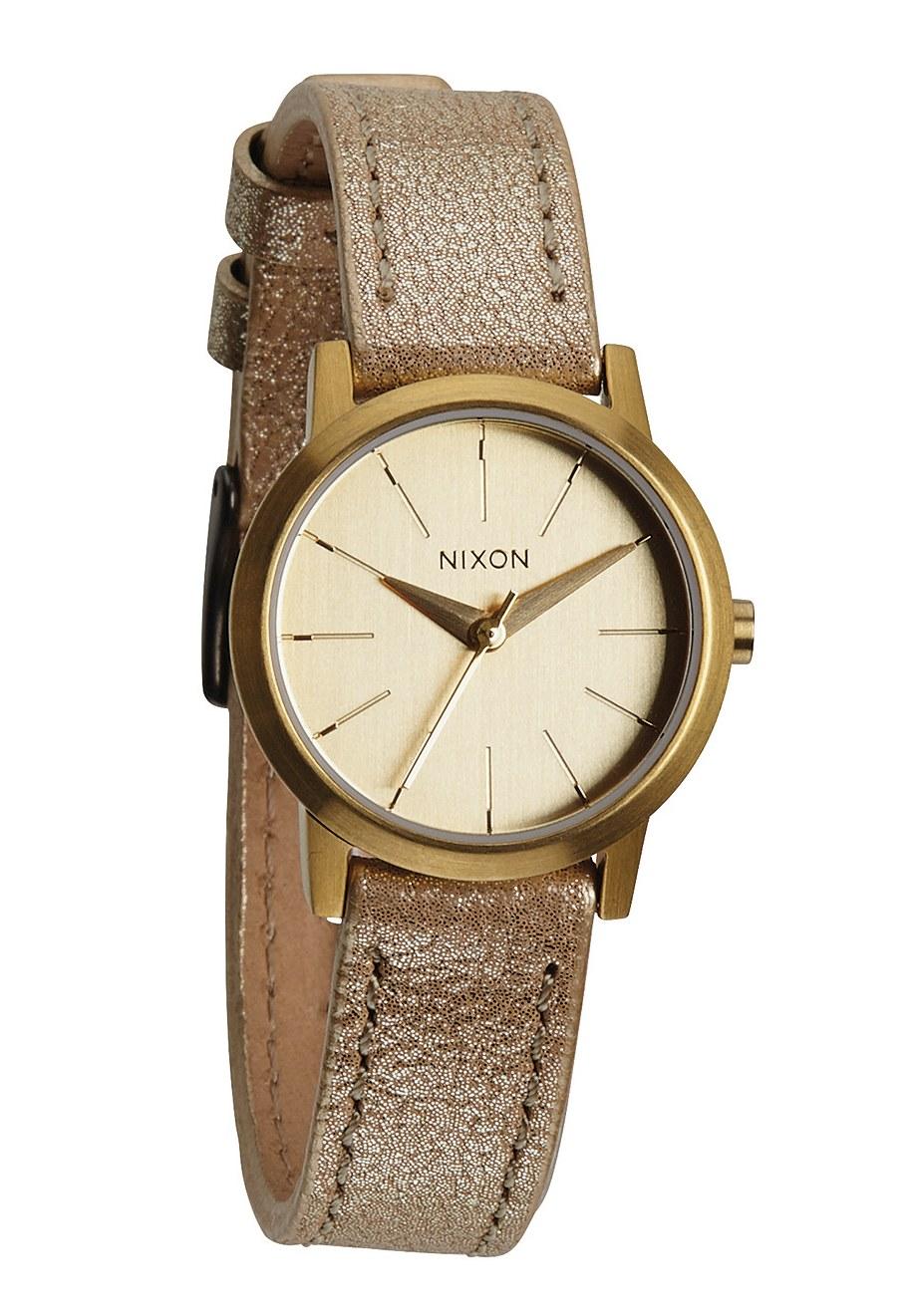 Nixon The Kenzi Leather Gold Shimmer