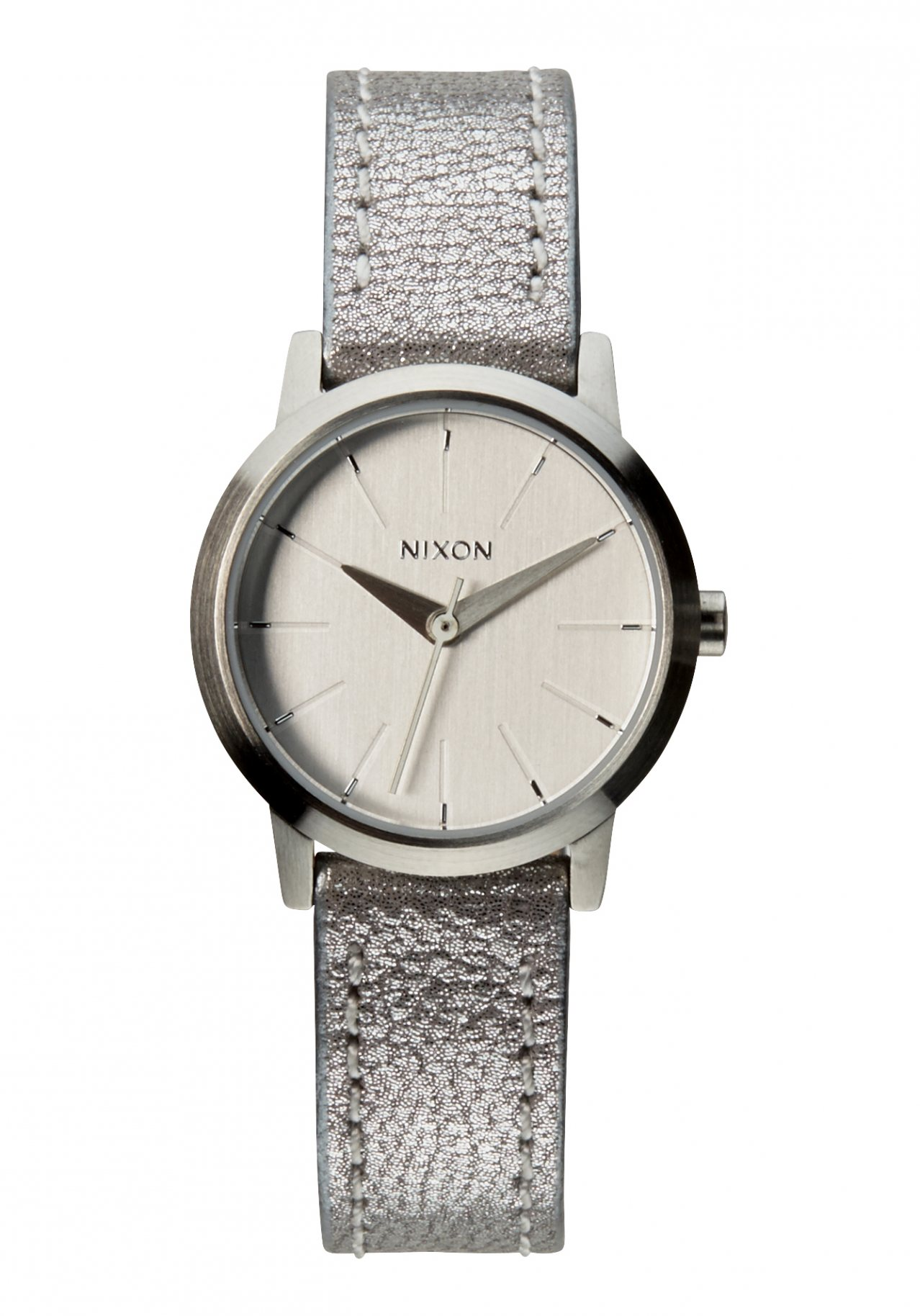 Nixon The Kenzi Leather Silver Shimmer