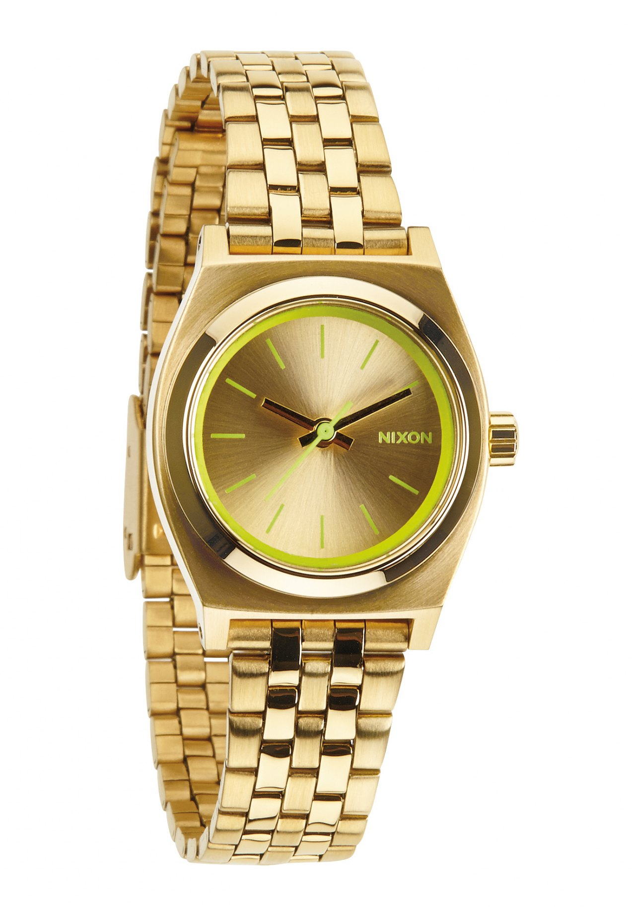 Nixon The Small Time Teller Gold / Neon Yellow Damenuhr
