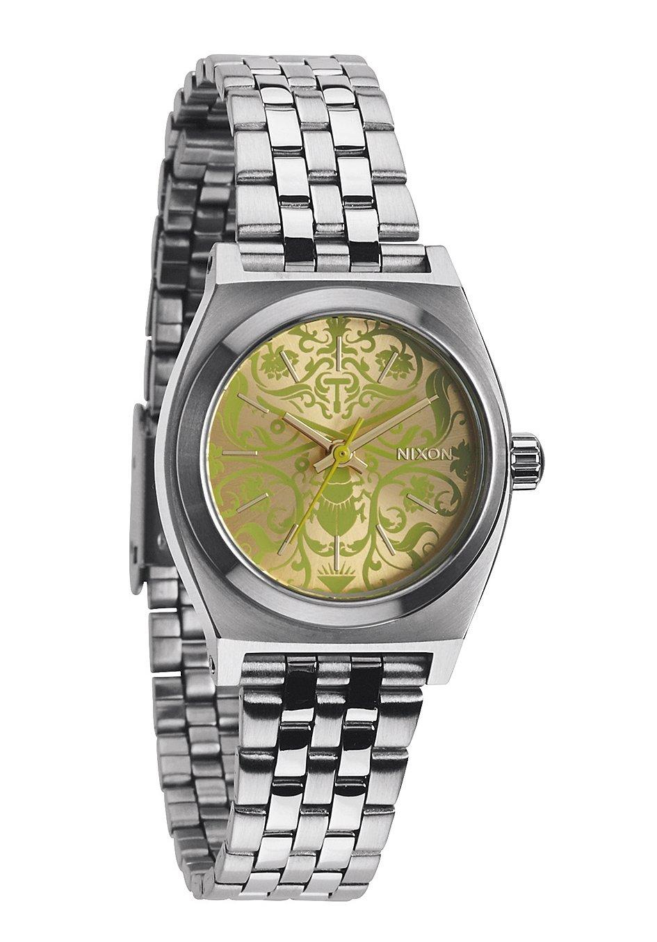 Nixon The Small Time Teller Silver / Neon Yellow / Beetle