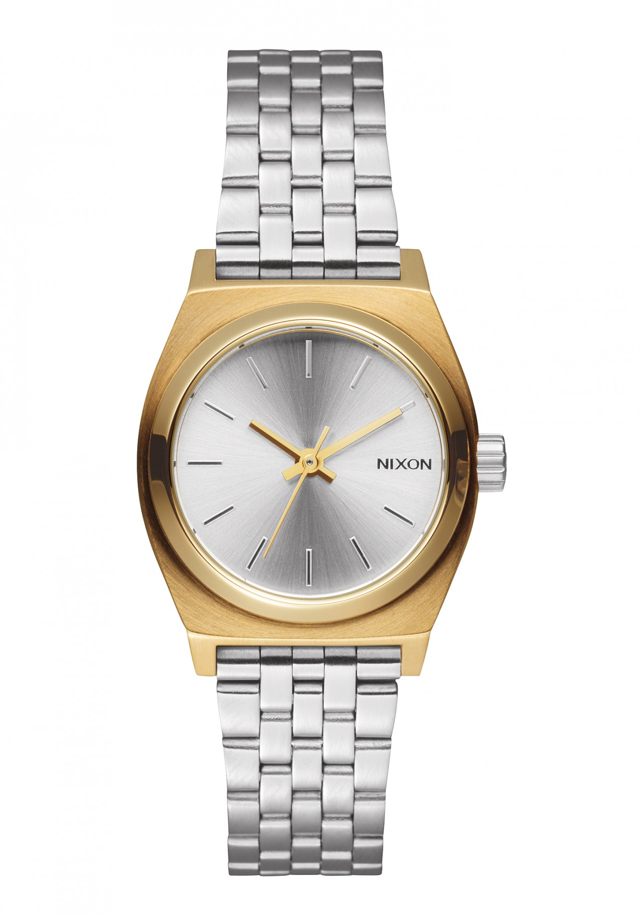 Nixon The Small Time Teller Gold Silver Silver Damenuhr