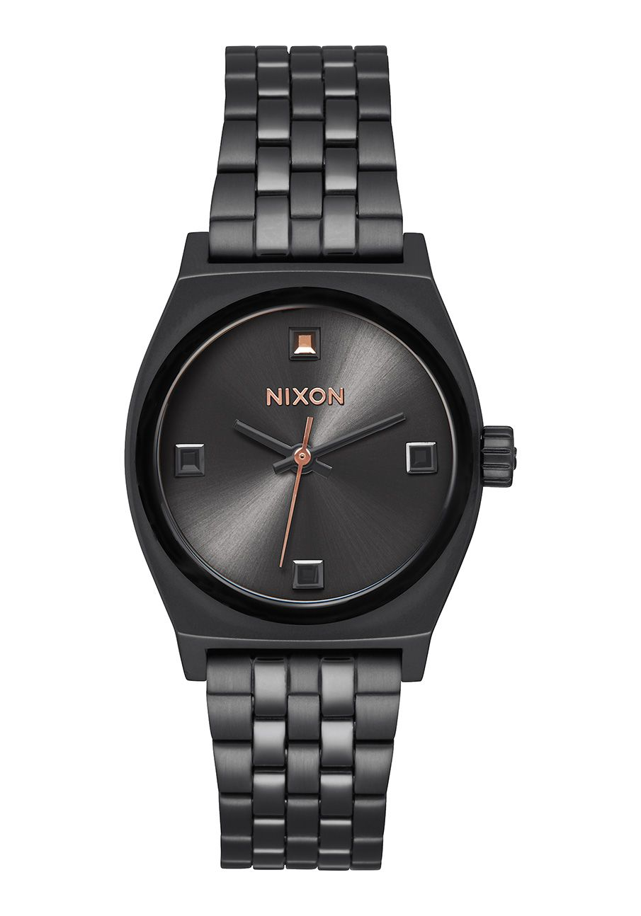 Nixon The Small Time Teller Black Crystal / Rose Gold