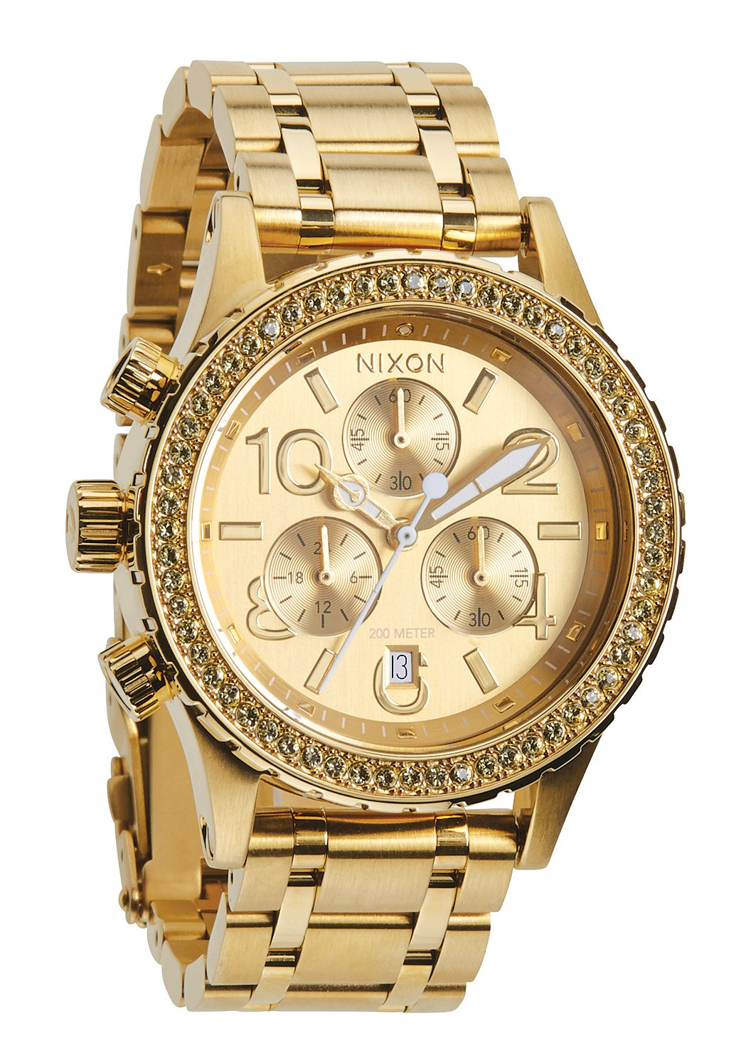 Nixon The 38-20 Chrono All Gold Crystal