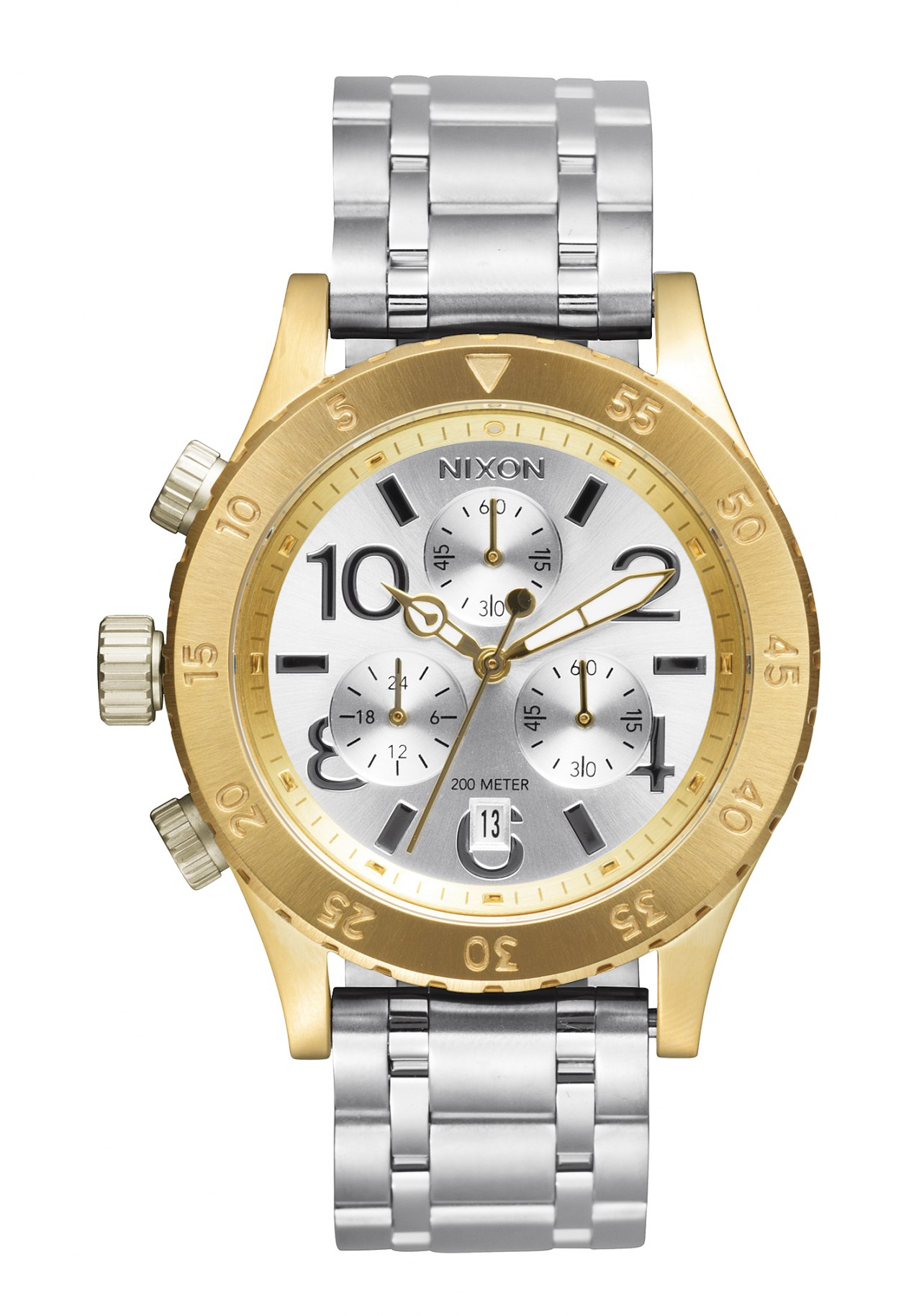 Nixon The 38-20 Chrono Gold Silver Silver
