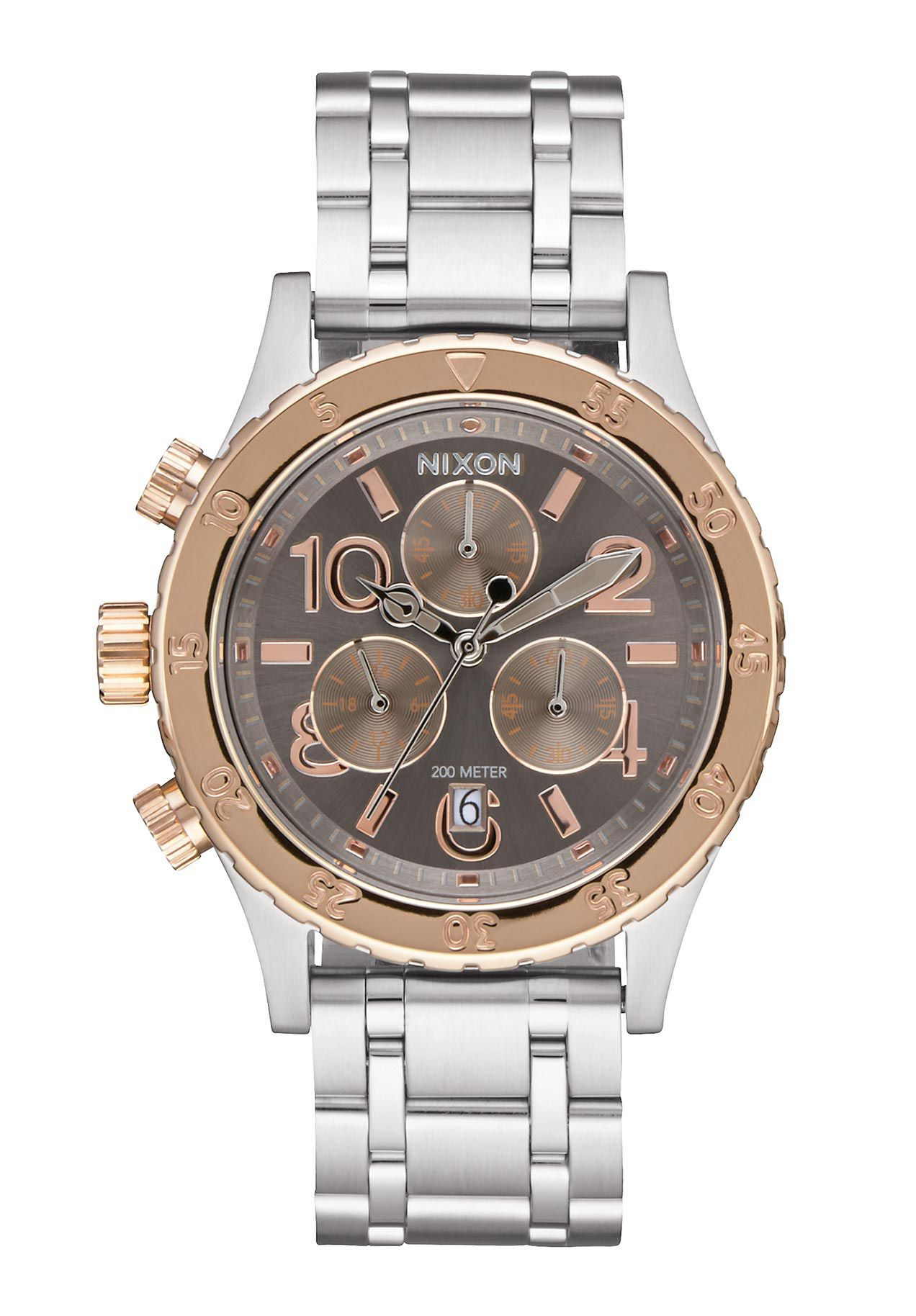 Nixon The 38-20 Chrono Silver Rose Gold Taupe