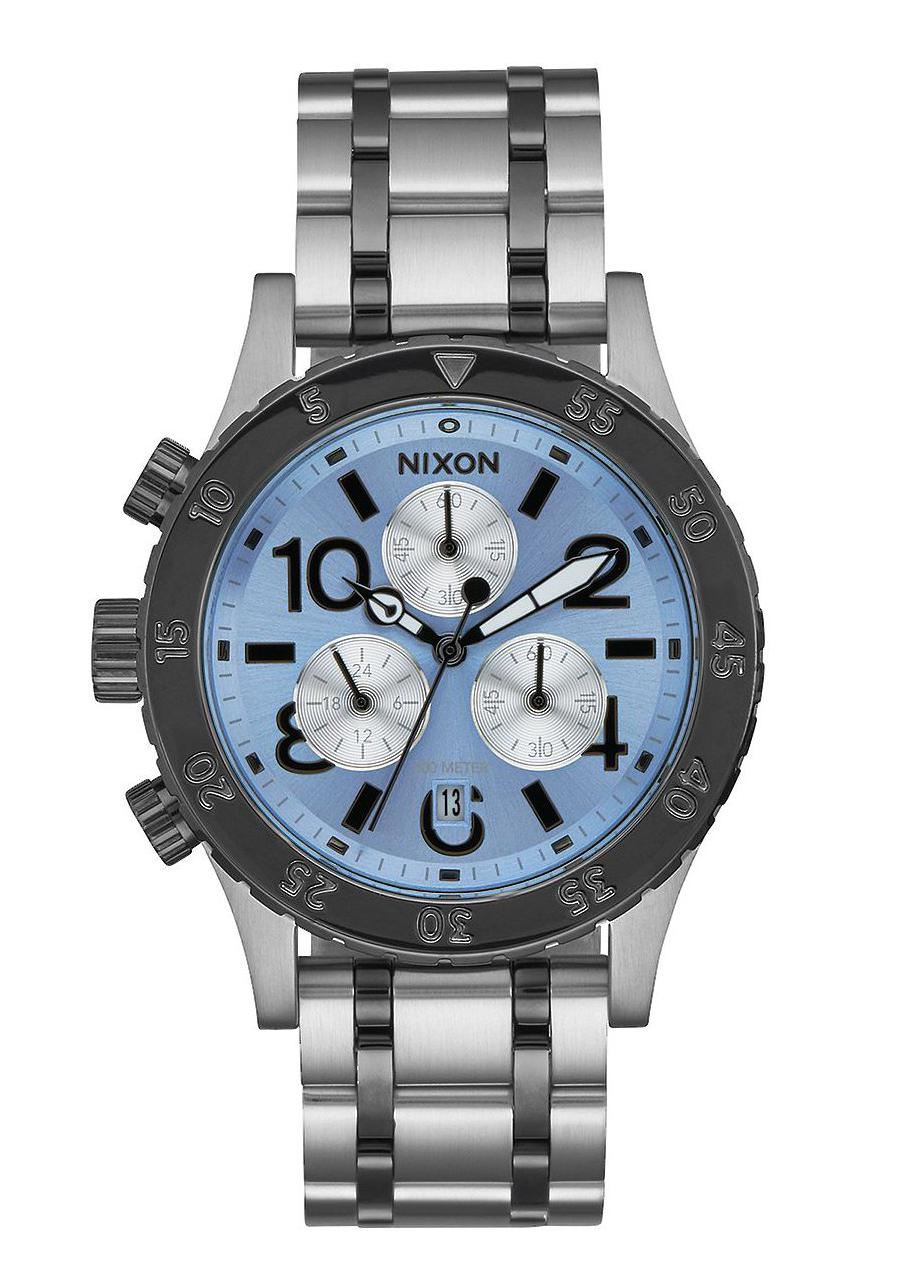 Nixon The 38-20 Chrono Silver Sky Gunmetal