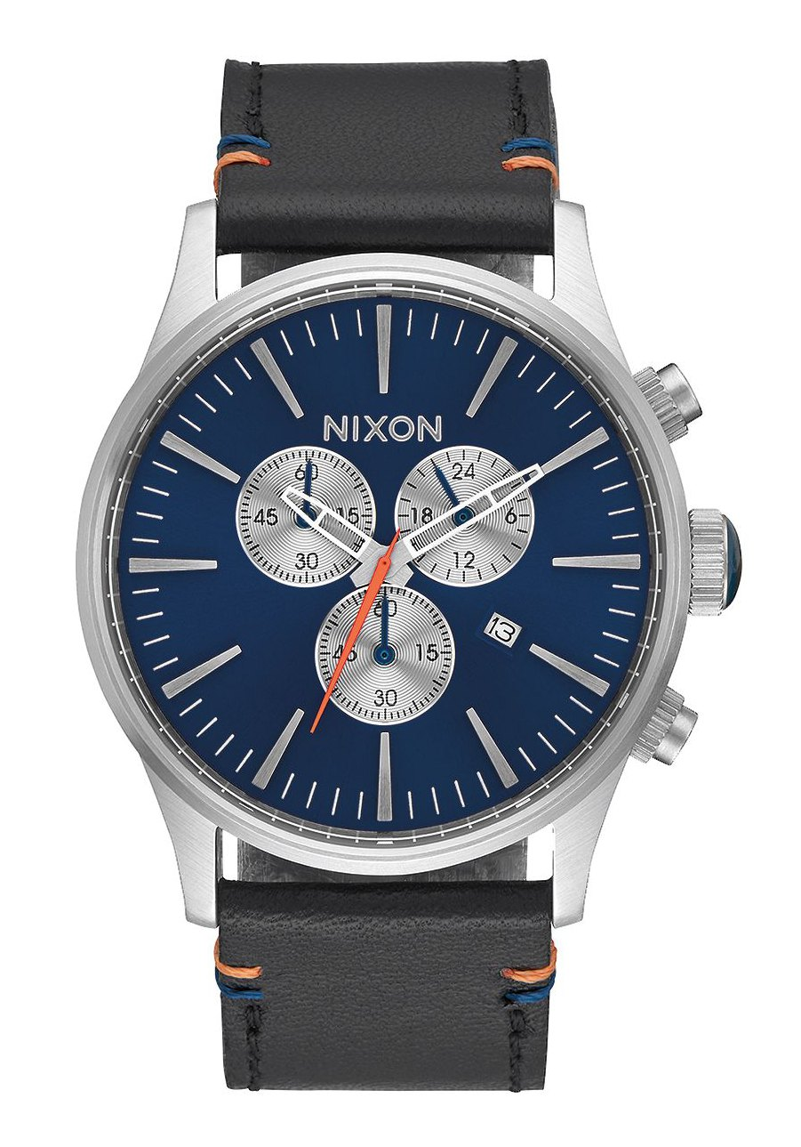 nixon the sentry chrono leather blue sunray a4051258 nur 239 00. Black Bedroom Furniture Sets. Home Design Ideas