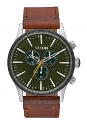 Nixon The Sentry Chrono Leather Surplus / Brown (A4052334)