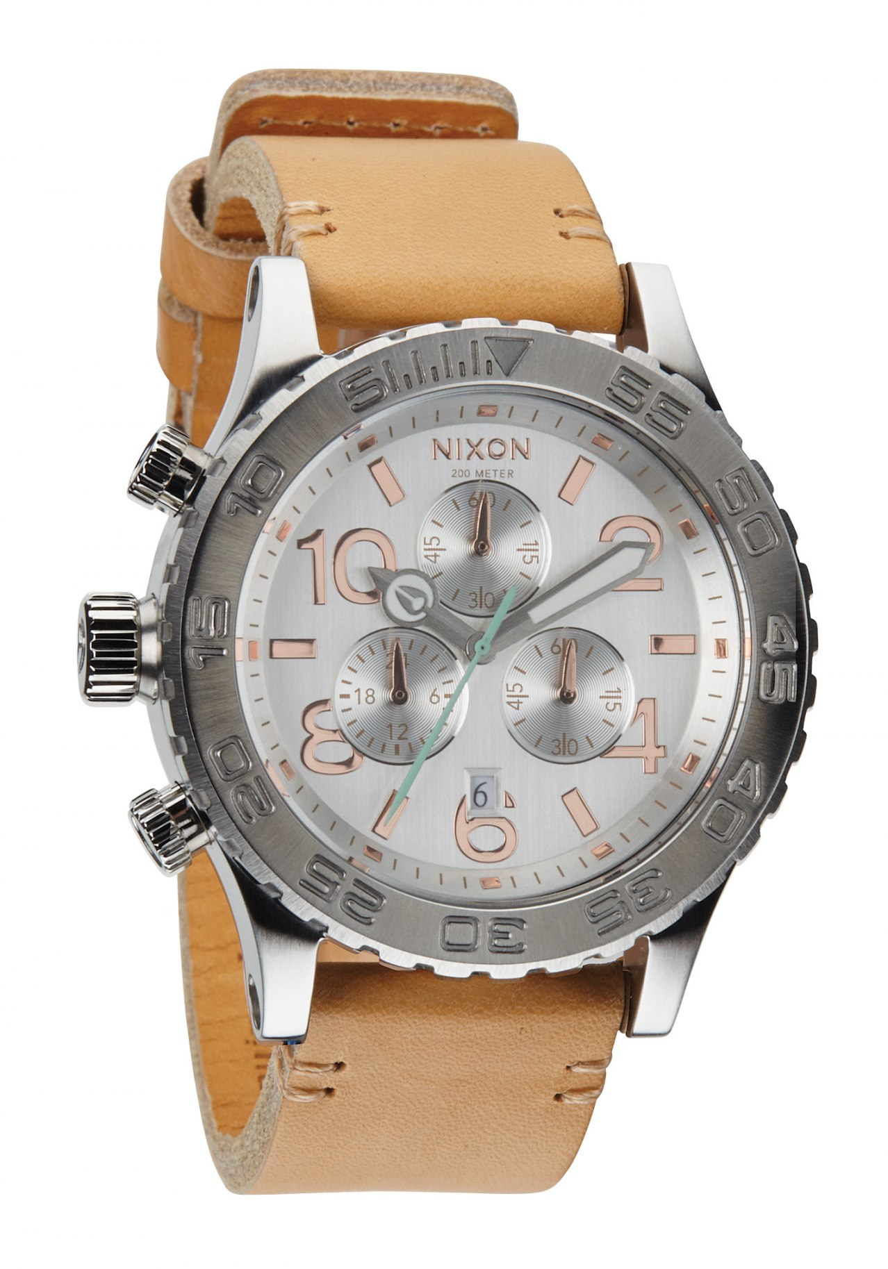 Nixon The 42-20 Chrono Leather Natural / Silver