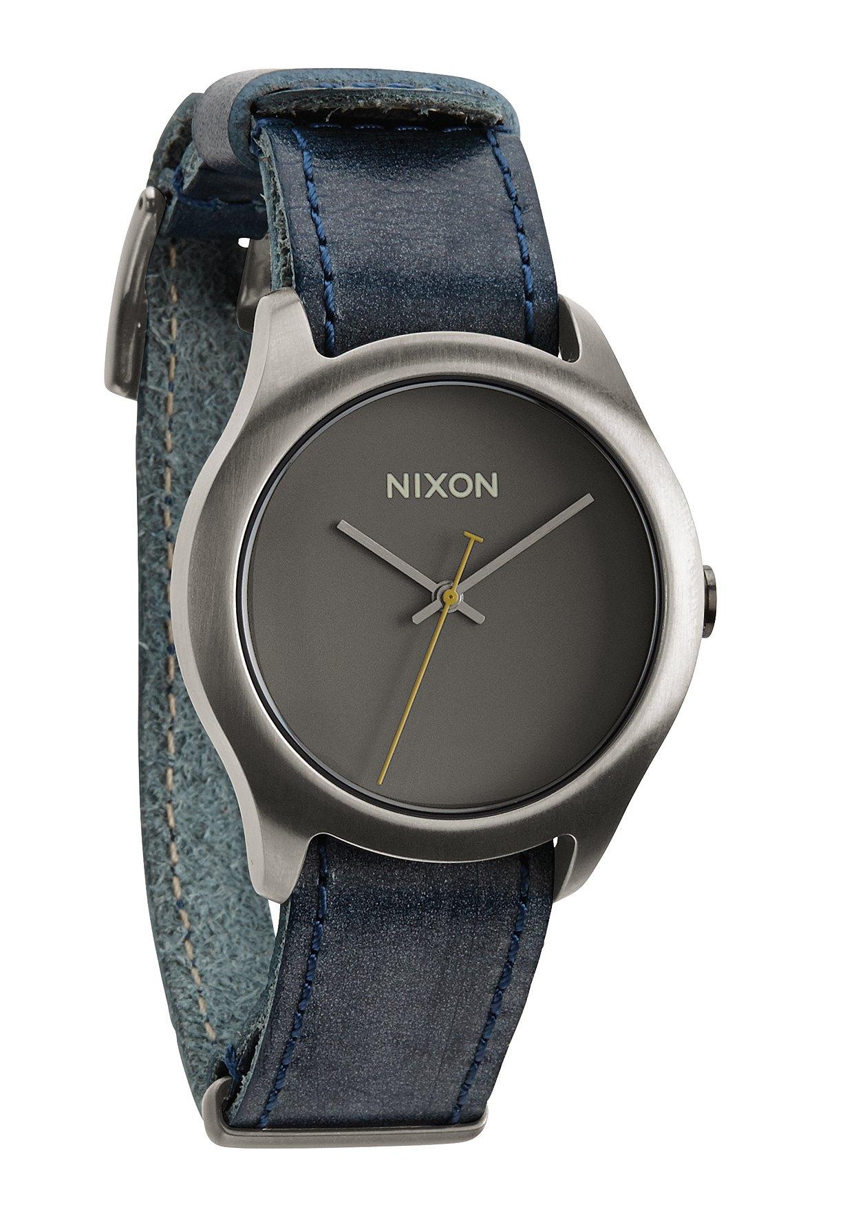 Nixon The Mod Leather Gunmetal / Navy