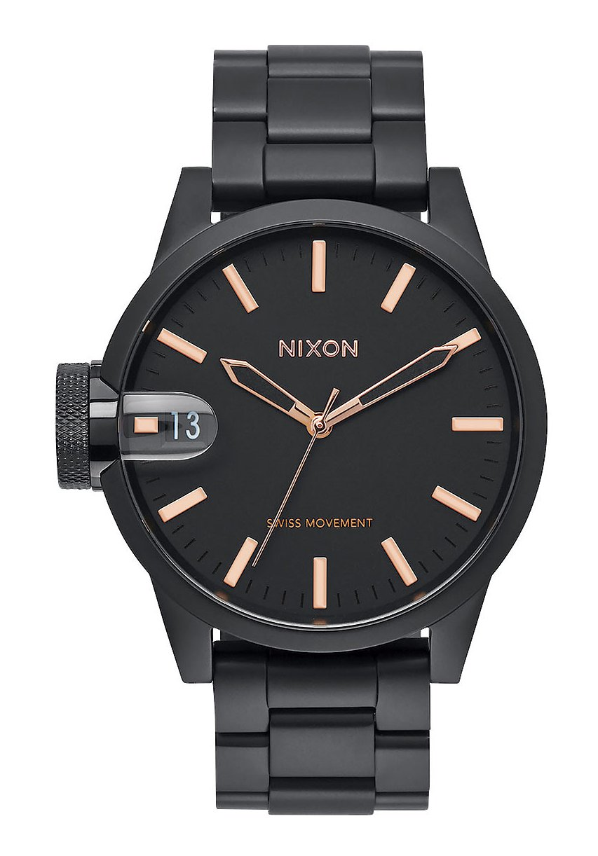 Nixon The Chronicle 44 All Black / Rose / Gold