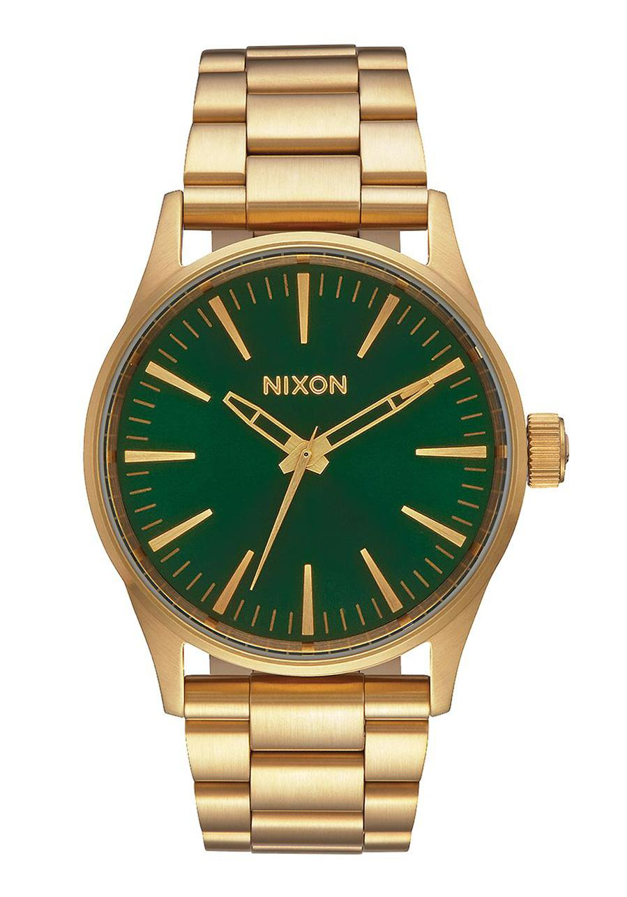 Nixon The Sentry 38 SS Gold / Green Sunray