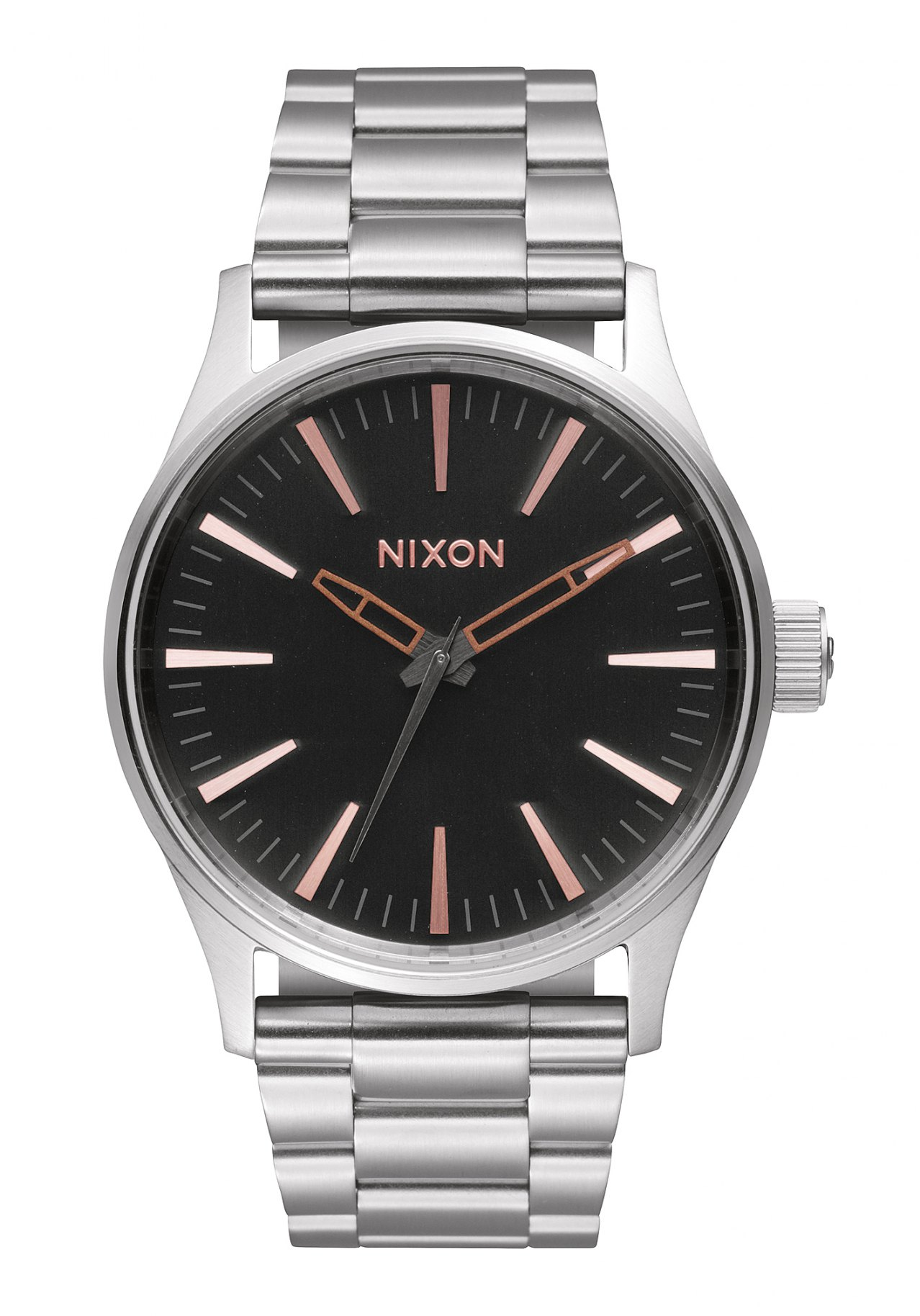 nixon the sentry 38 ss gray rose gold a4502064 nur 125 00. Black Bedroom Furniture Sets. Home Design Ideas