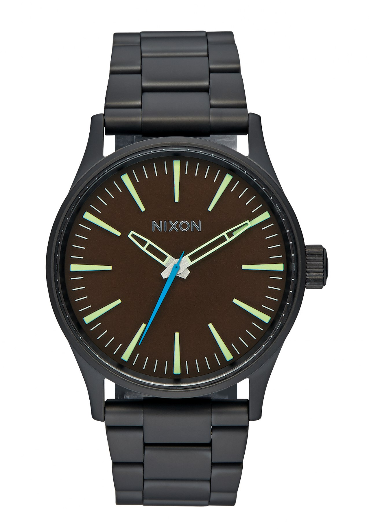 Nixon The Sentry 38 SS All Black Brown
