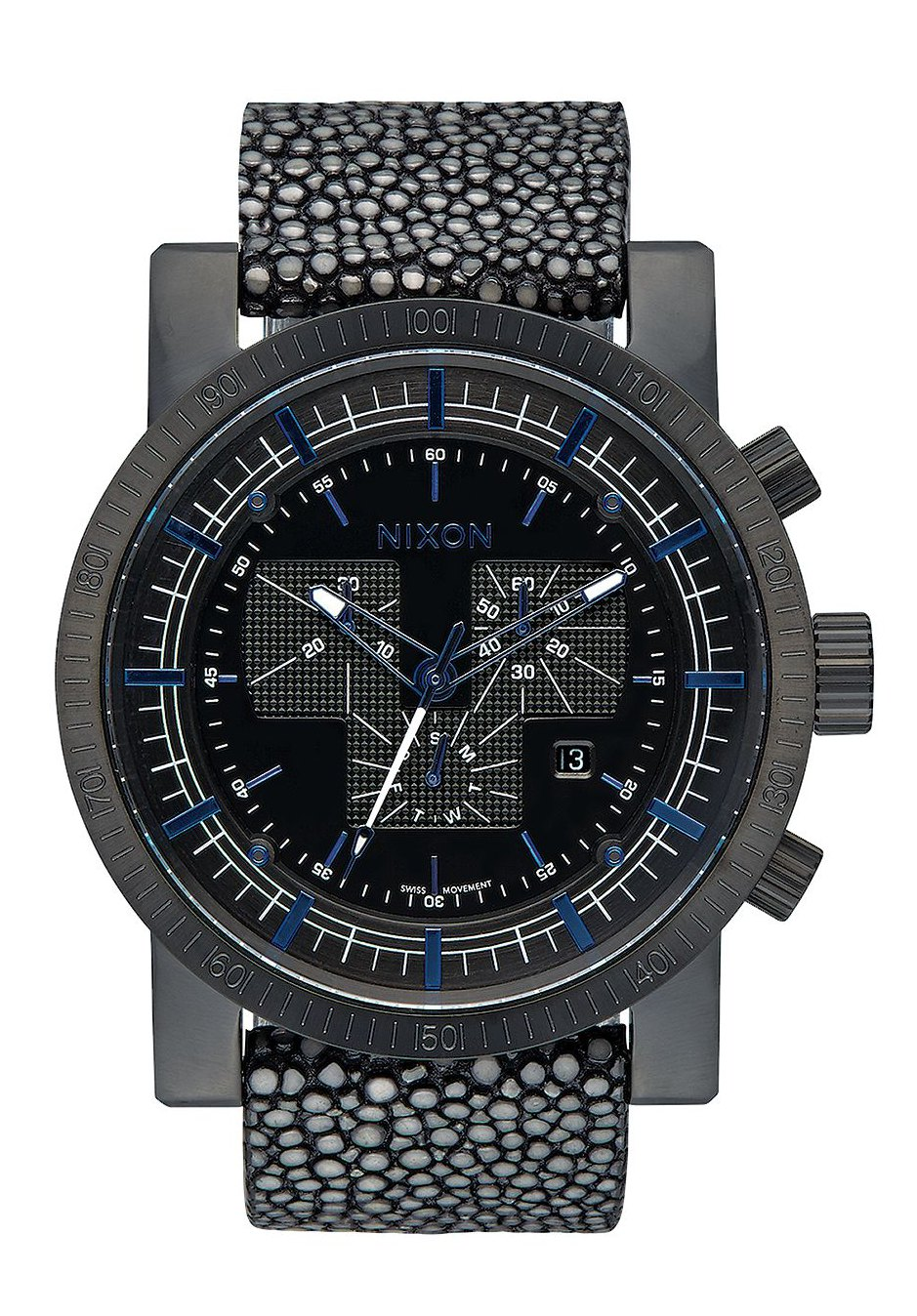 Nixon The Magnacon Leather Black Stingray