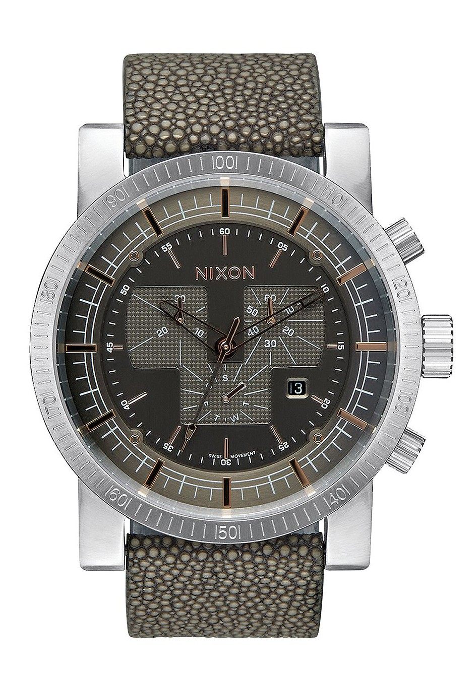Nixon The Magnacon Leather Gray Stingray