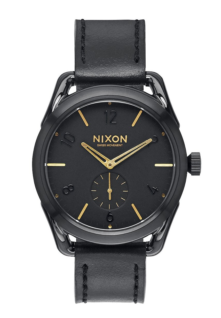 Nixon The C39 Leather Black / Gold