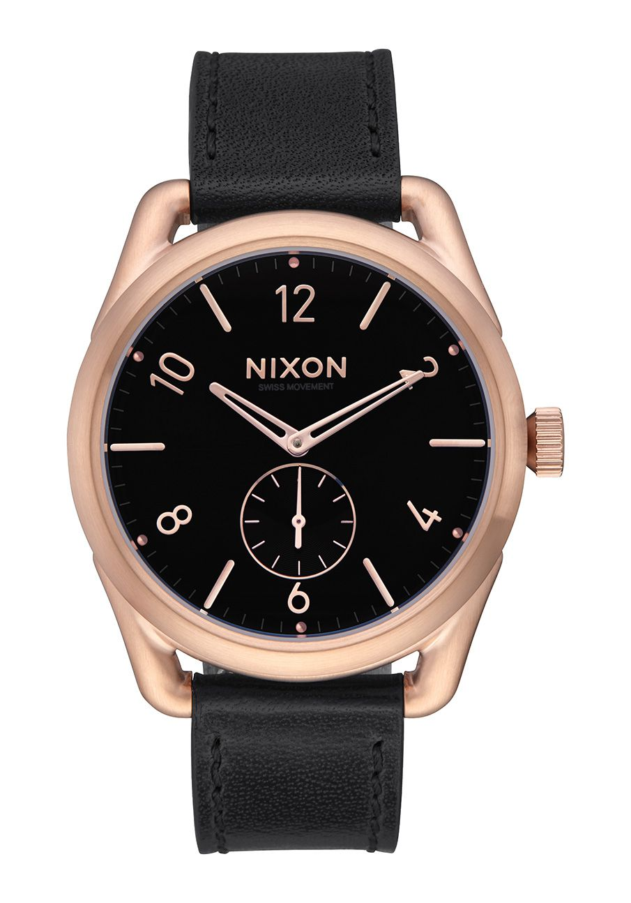 Nixon The C39 Leather Rose Gold / Black