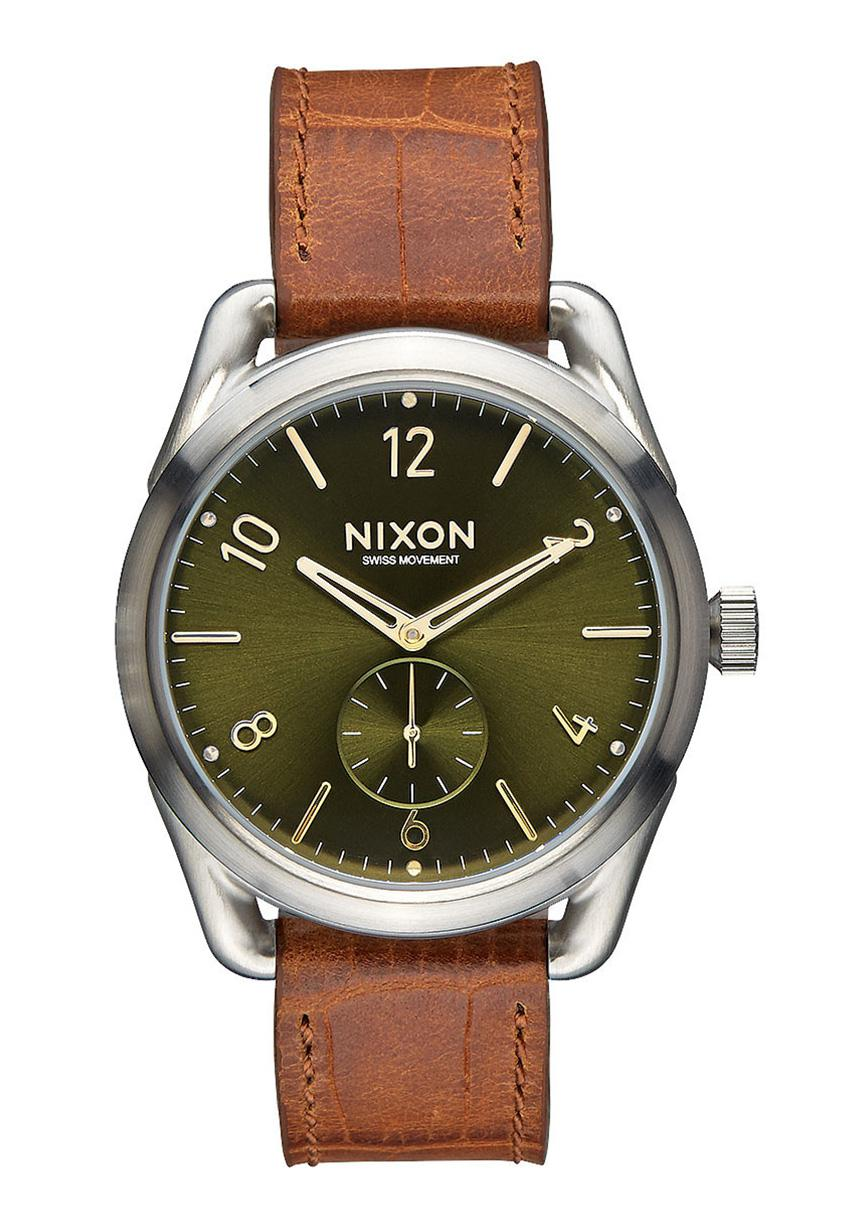 Nixon The C39 Leather Saddle Gator Damenuhr