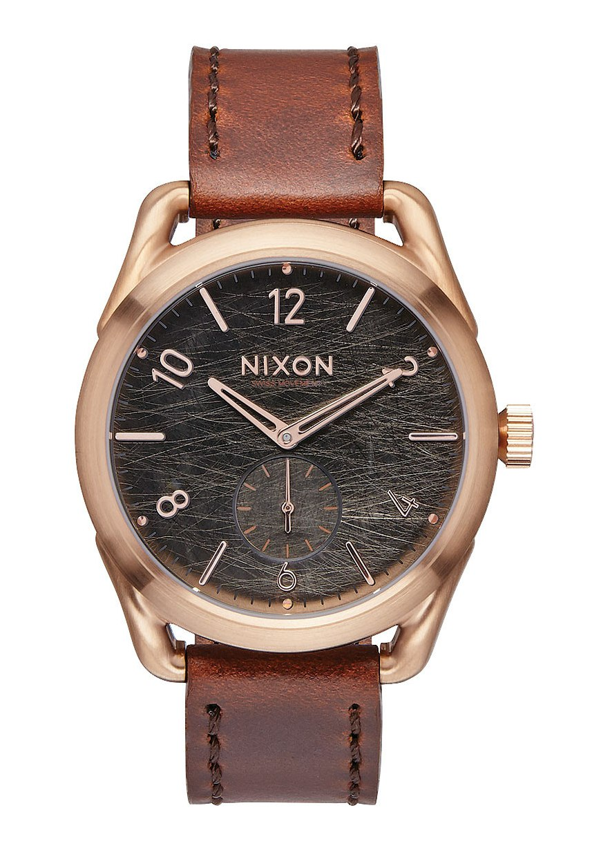 Nixon The C39 Leather Rose Gold / Brown