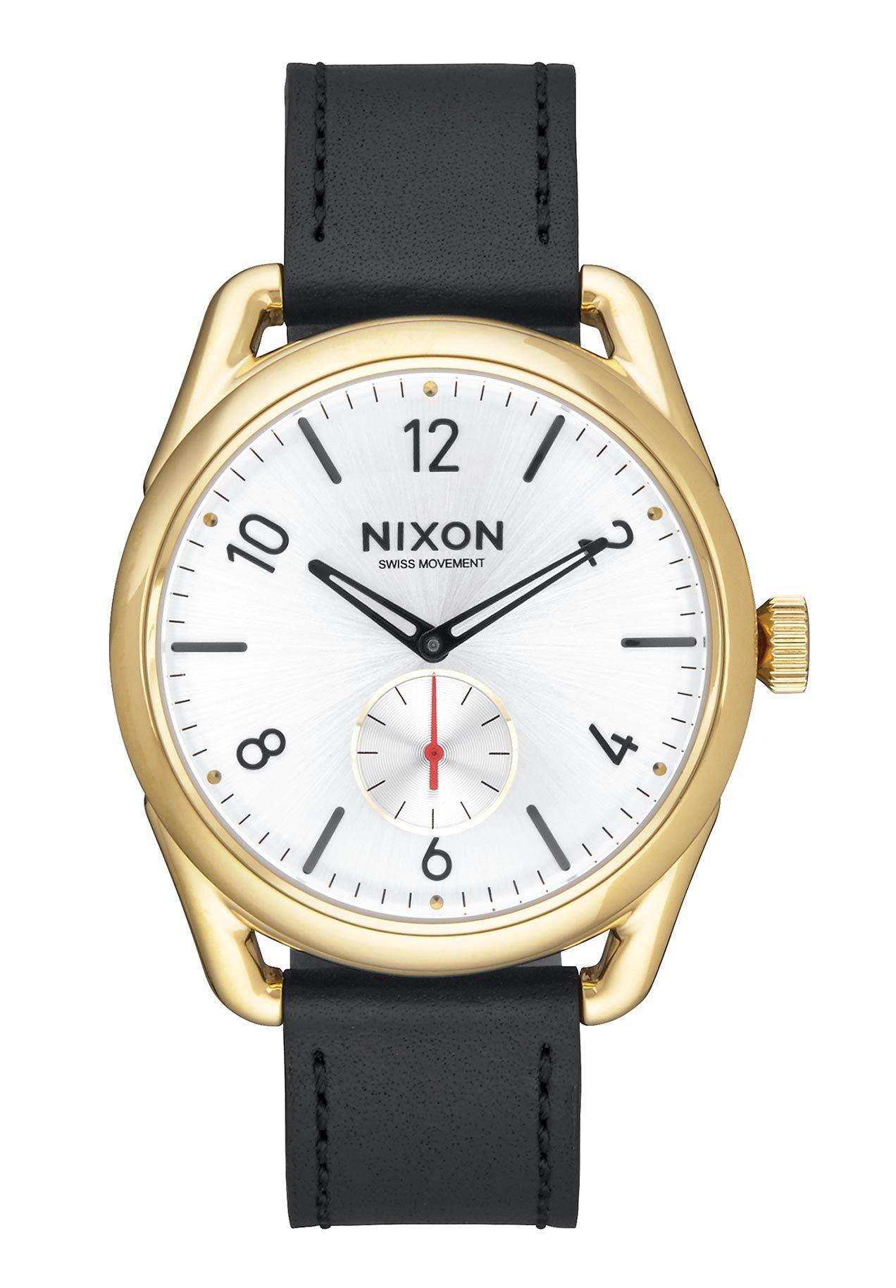 Nixon The C39 Leather Gold / Black / White