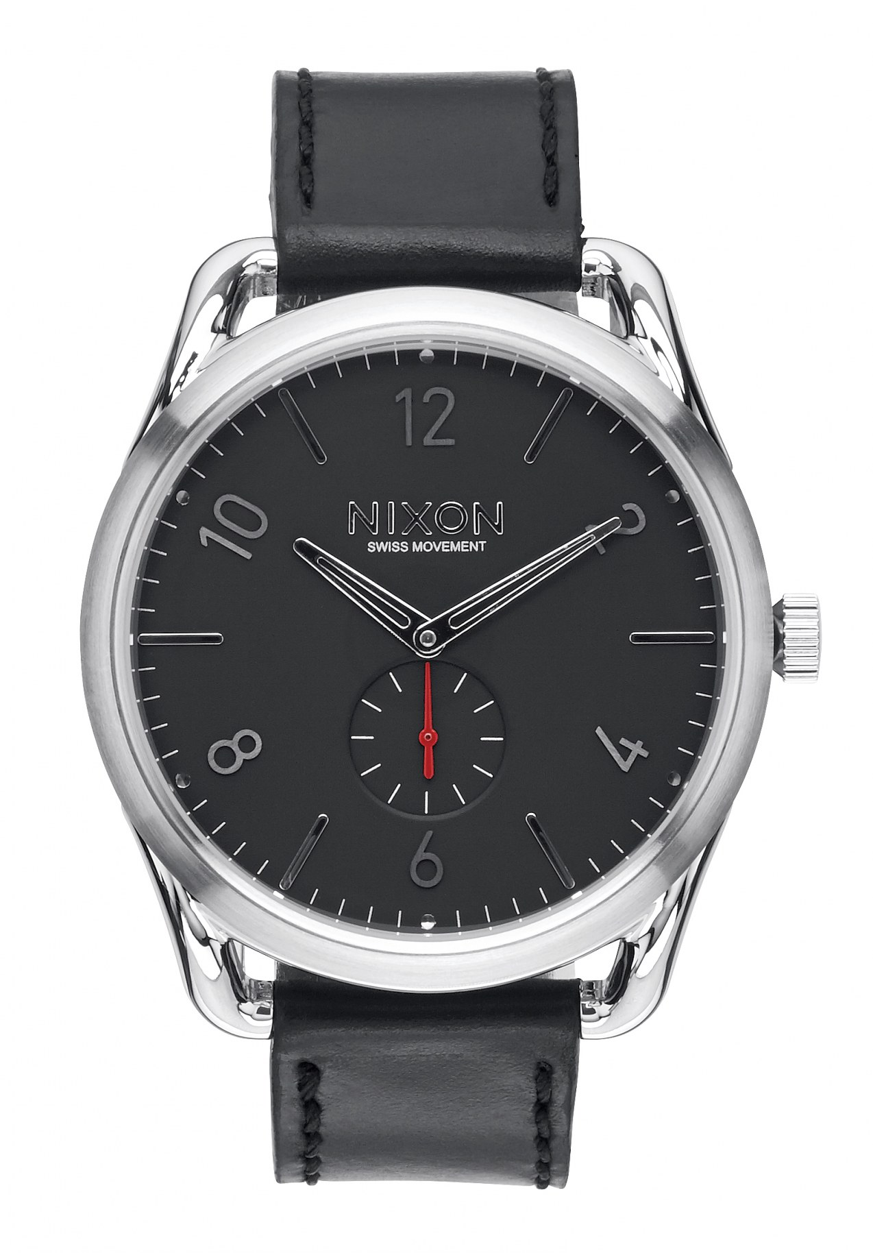 Nixon The C45 Leather Black / Red