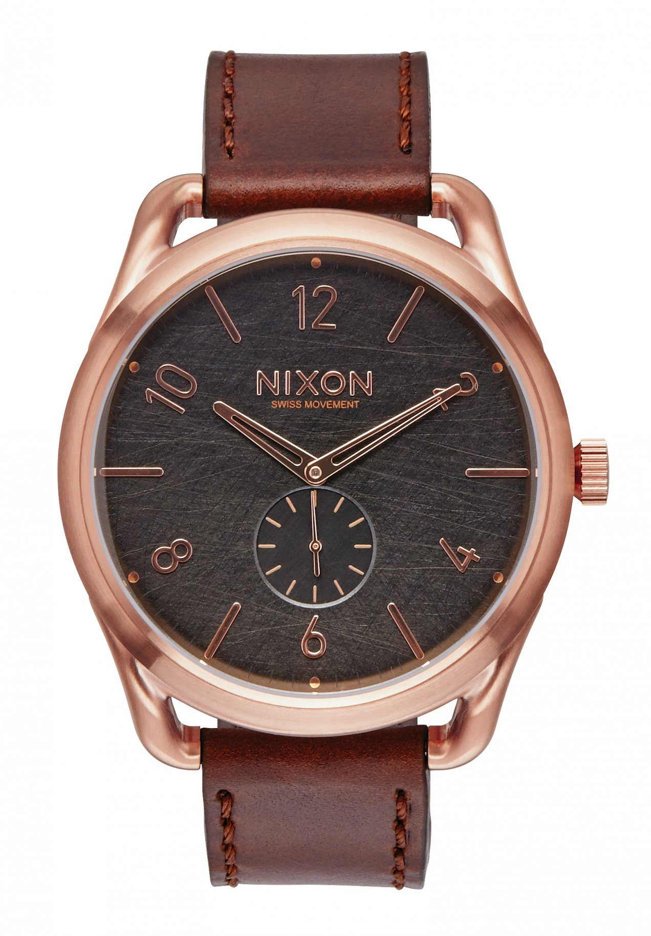 Nixon The C45 Leather Rose Gold / Brown