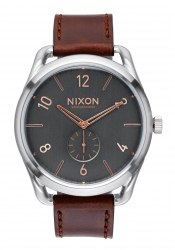 Nixon The C45 Leather Gray / Rose Gold (A4652064)