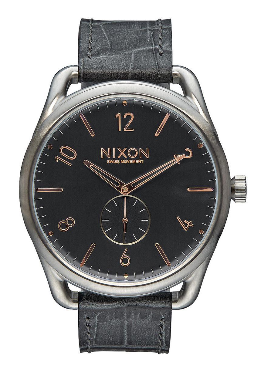 Nixon The C45 Leather Gray Gator