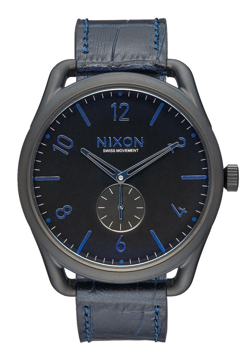 Nixon The C45 Leather Navy Gator