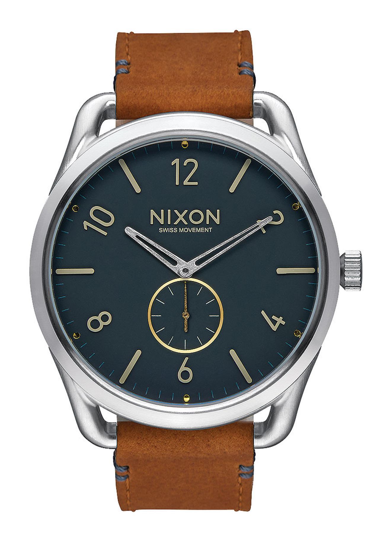 Nixon The C45 Leather Navy / Saddle