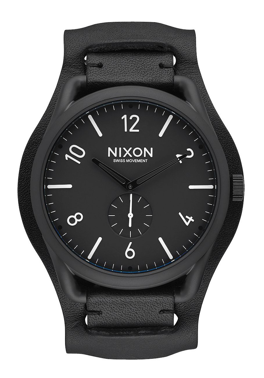 Nixon The C45 Leather All Black / White / Black Cuff