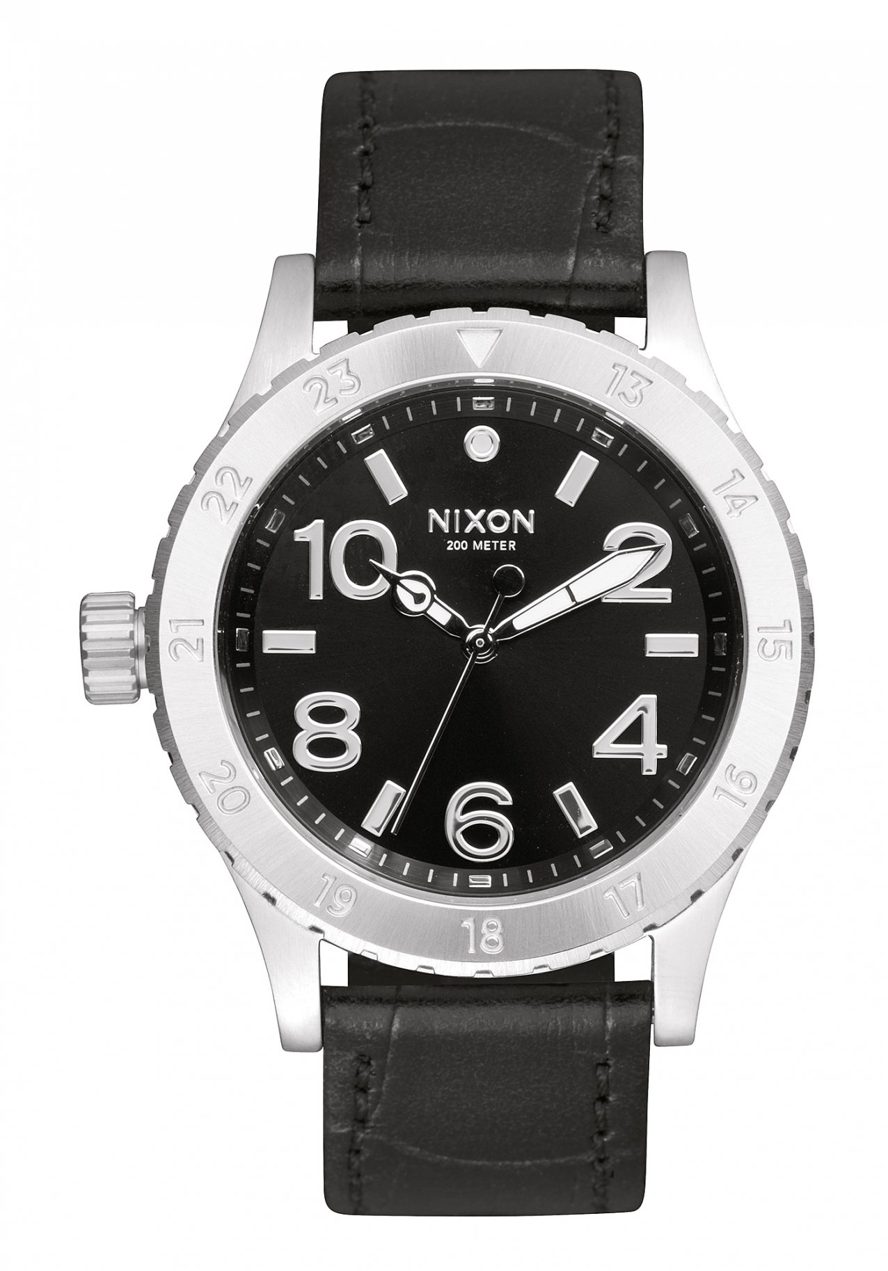 Nixon The 38-20 Leather Black Gator