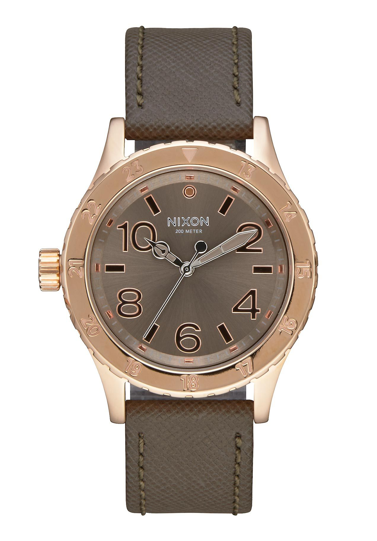 Nixon The 38-20 Leather Rose Gold Taupe