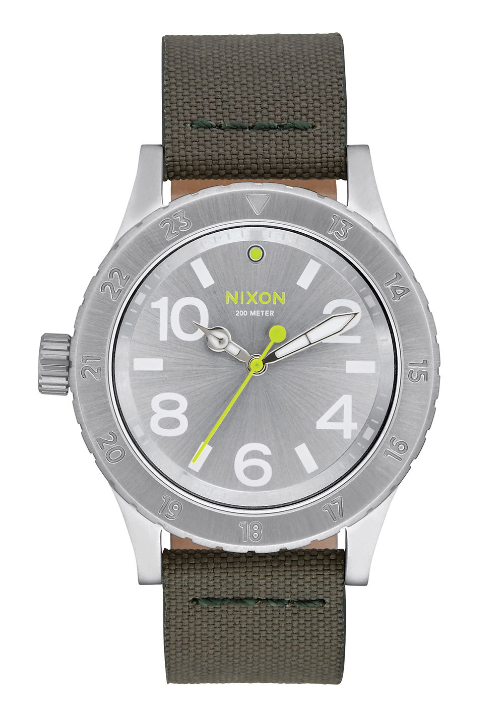 Nixon The 38-20 Leather Silver / Surplus