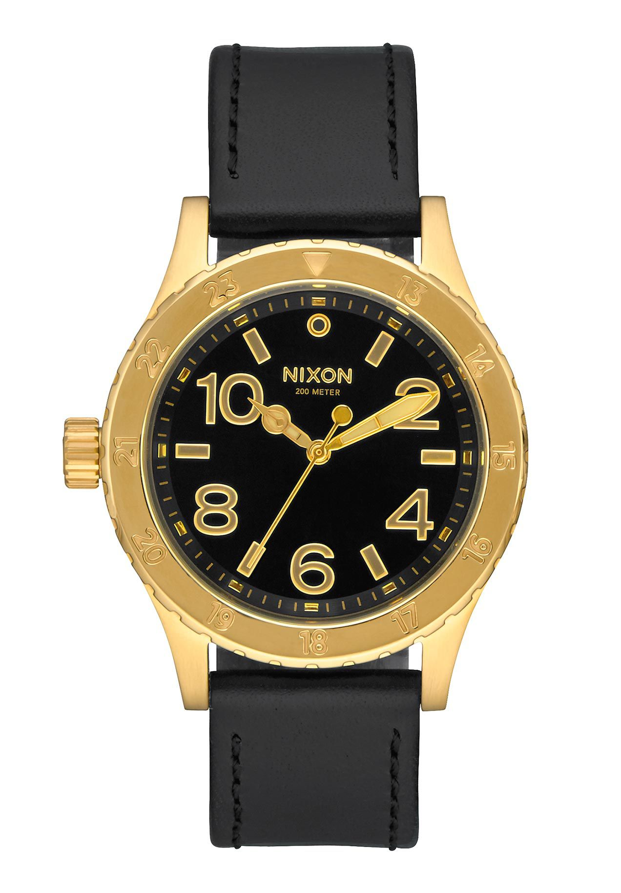 Nixon The 38-20 Leather Gold Black