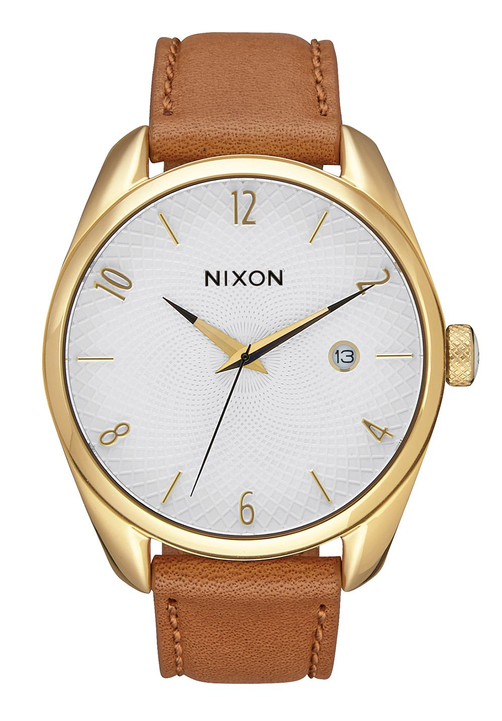 Nixon The Bullet Leather Gold / Saddle