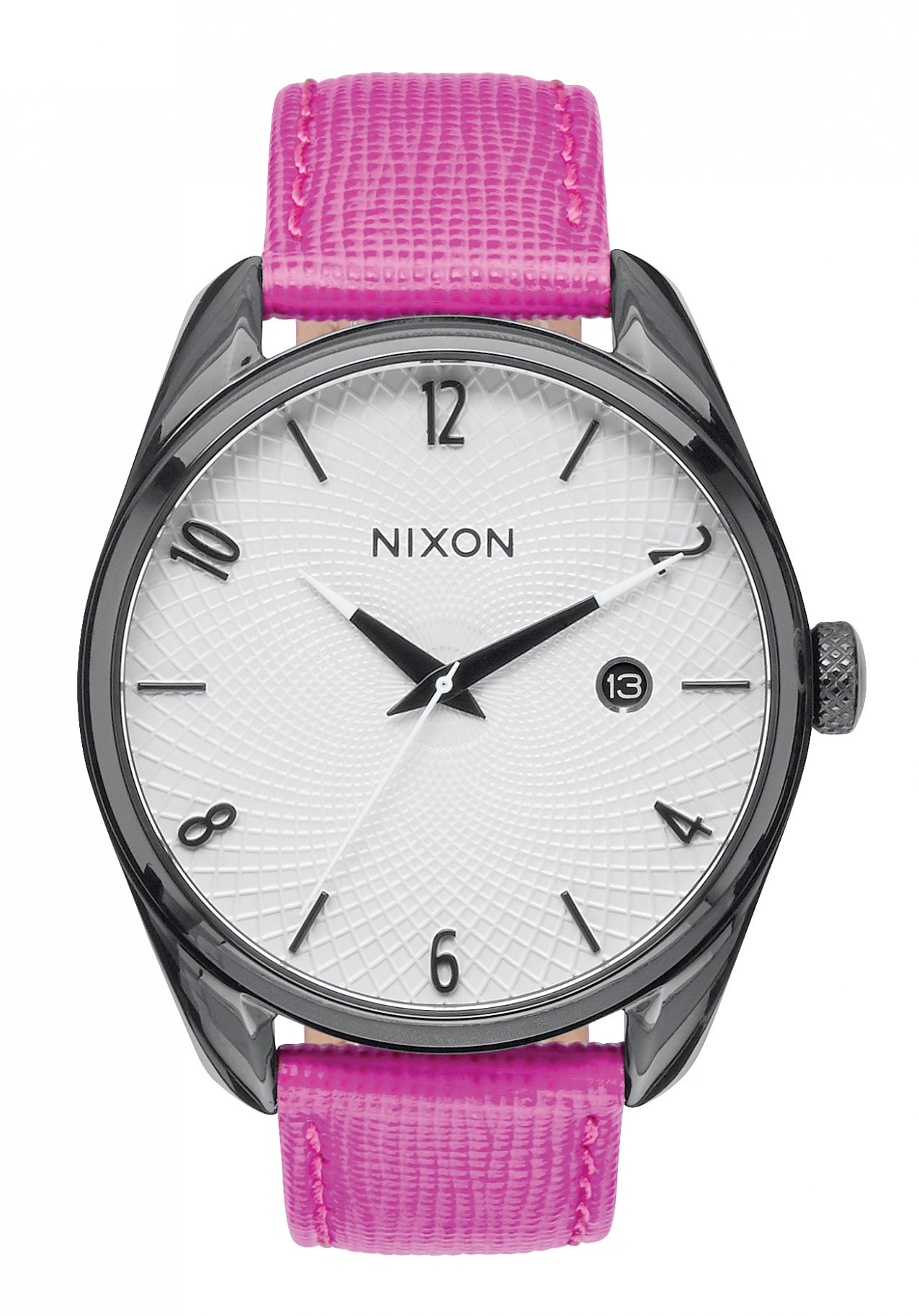Nixon The Bullet Leather Black / Hot Pink