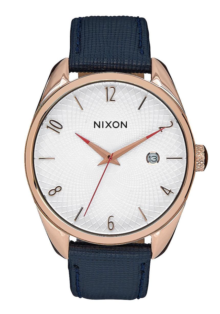 Nixon The Bullet Leather Rose Gold / Navy