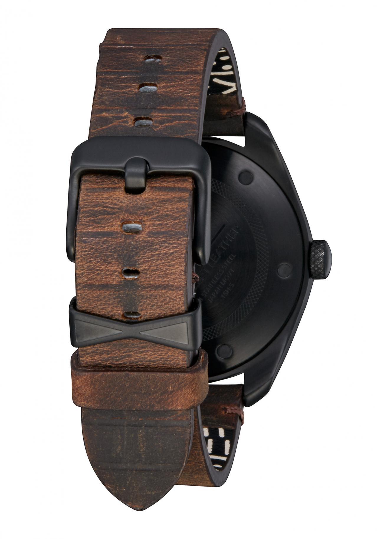 nixon the bullet leather black silver brown nur 189 00. Black Bedroom Furniture Sets. Home Design Ideas