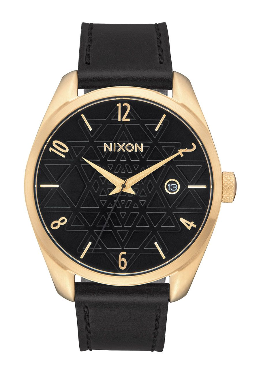 Nixon The Bullet Leather Gold / Black / Stamped