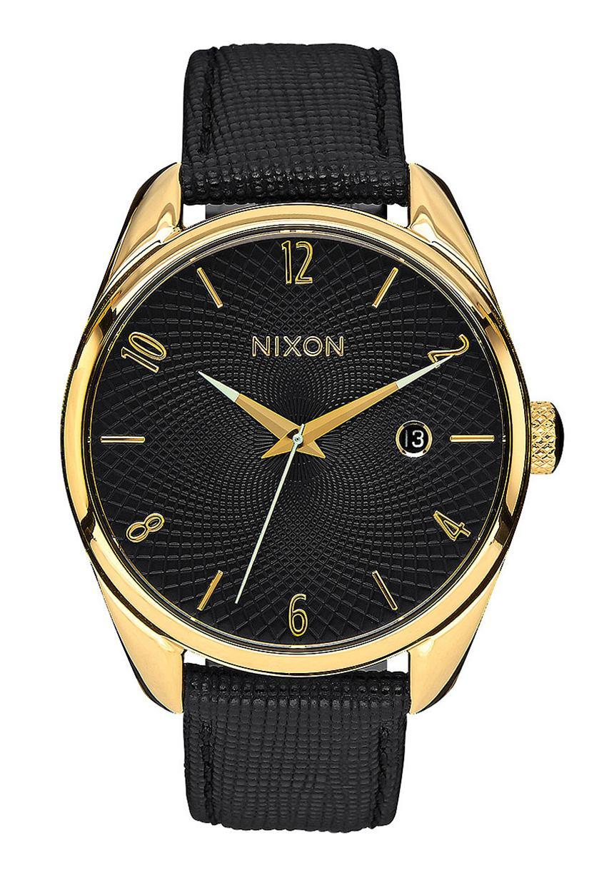 Nixon The Bullet Leather Gold / Black