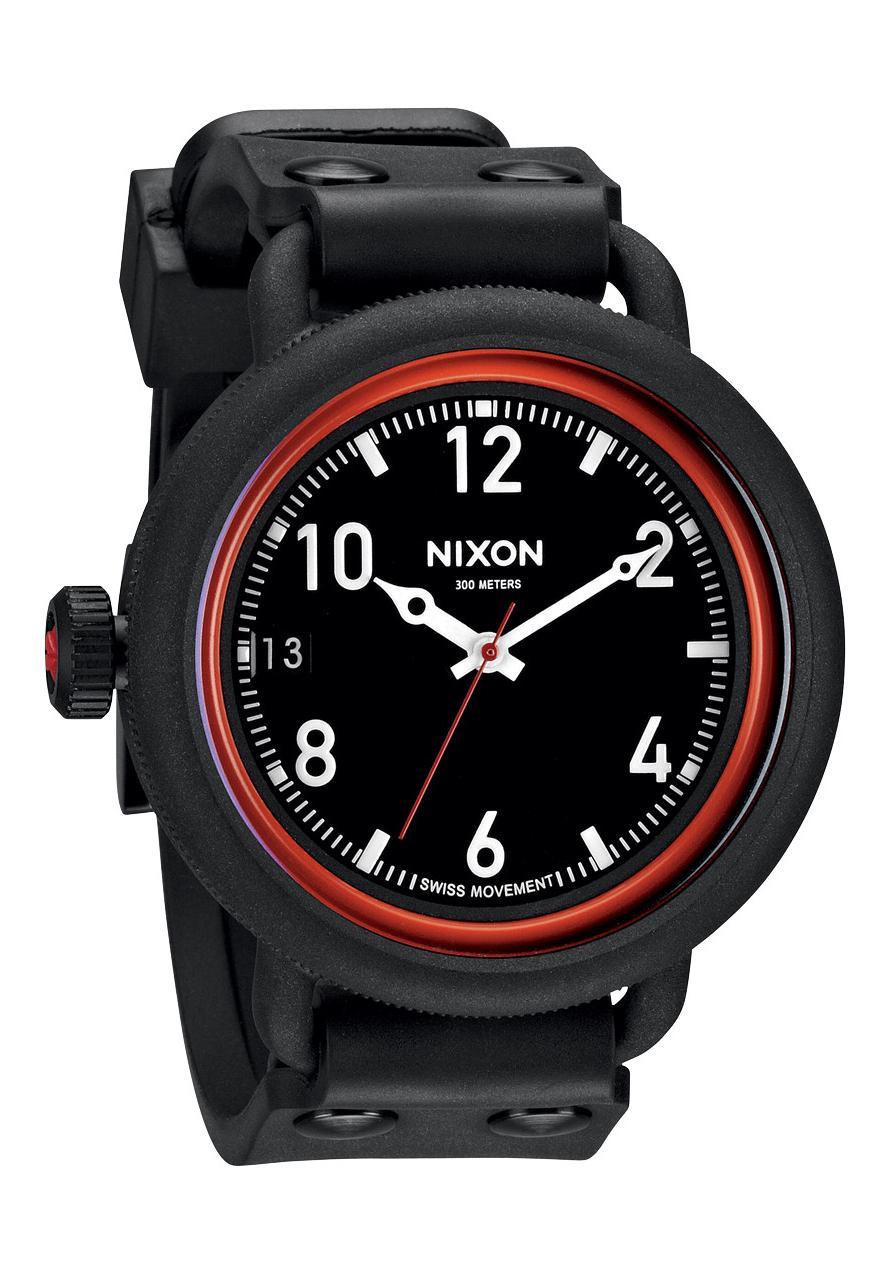 nixon the october all black red a488760 nur 199 00. Black Bedroom Furniture Sets. Home Design Ideas