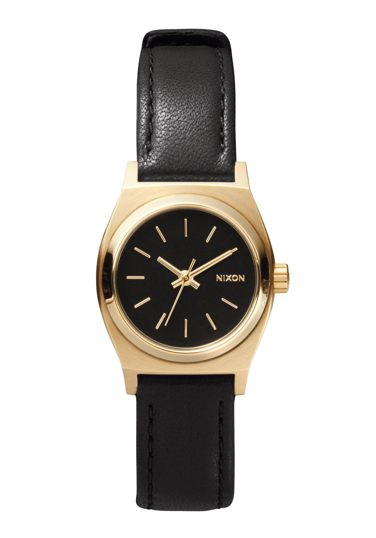 Nixon The Small Time Teller Leather Black / Gold