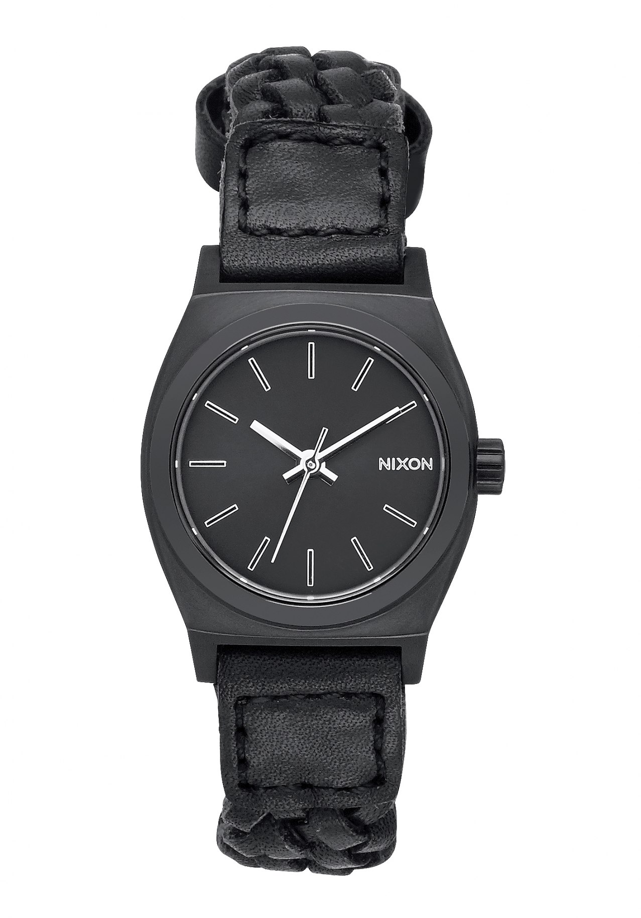 Nixon The Small Time Teller Leather Black Woven