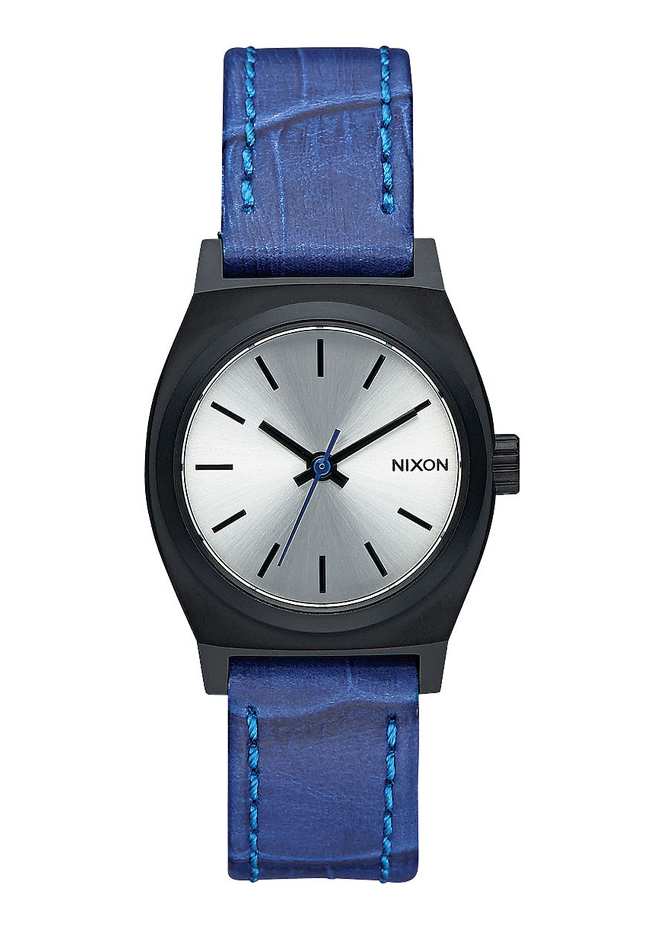Nixon The Small Time Teller Leather Black / Blue Gator