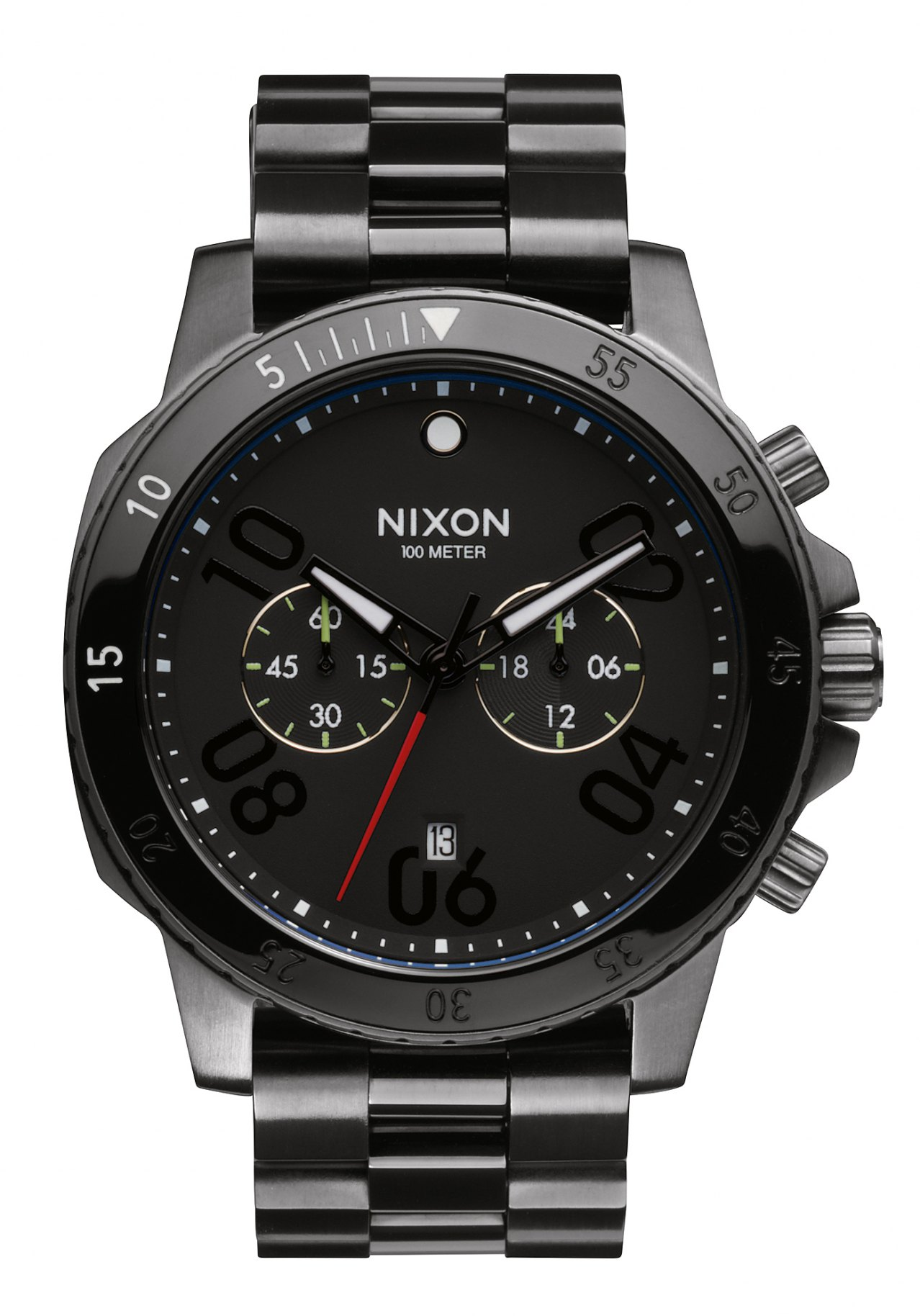 Nixon The Ranger Chrono Gunmetal Black