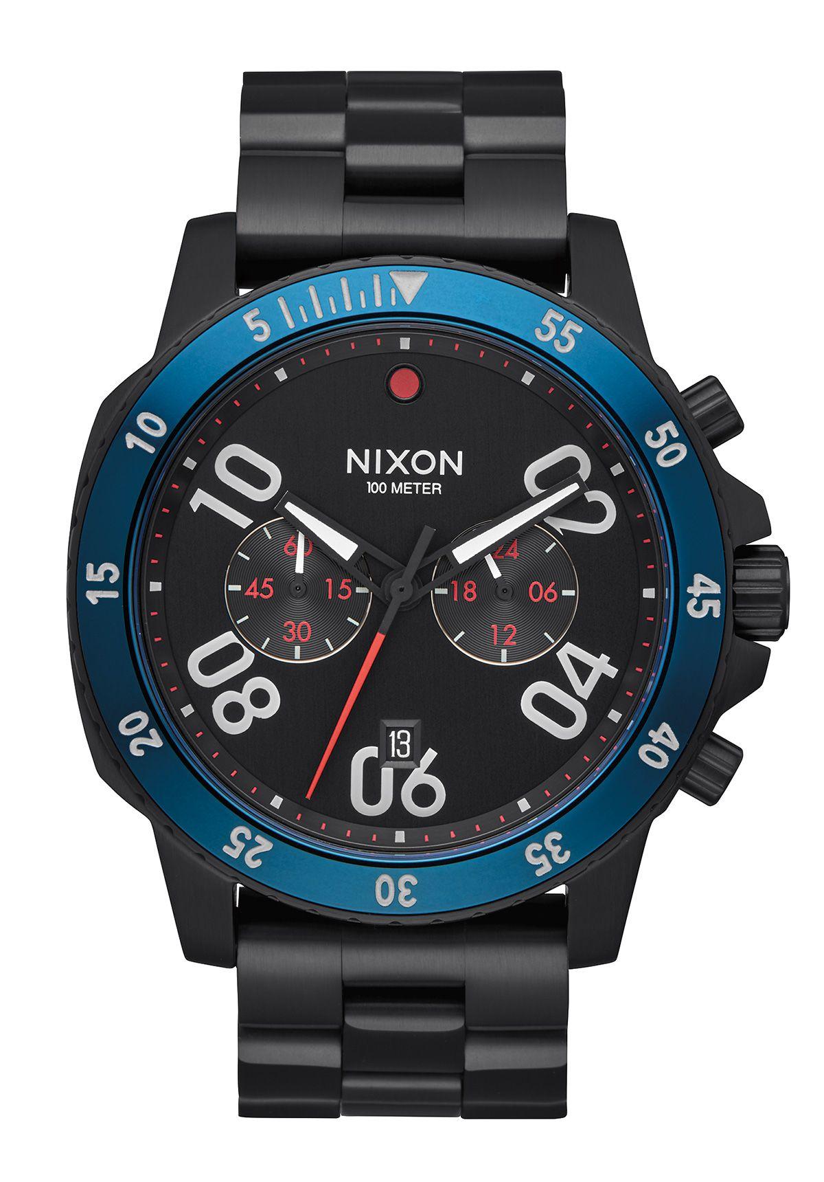 Nixon The Ranger Chrono All Black / Blue