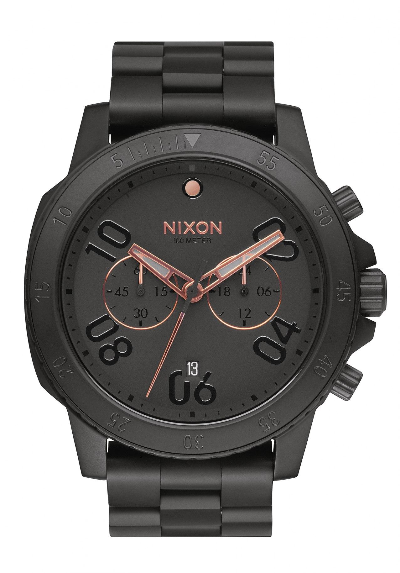 nixon the ranger chrono all black rose gold a549957 nur 269 00. Black Bedroom Furniture Sets. Home Design Ideas